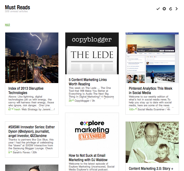 Feedly Cards