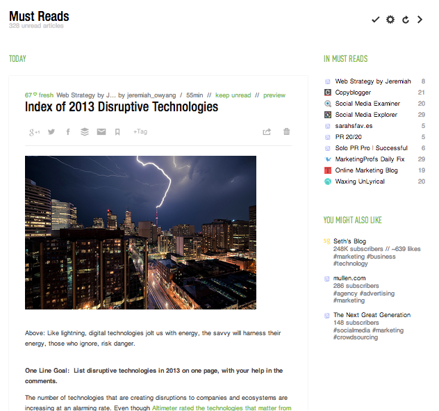 Feedly Full articles