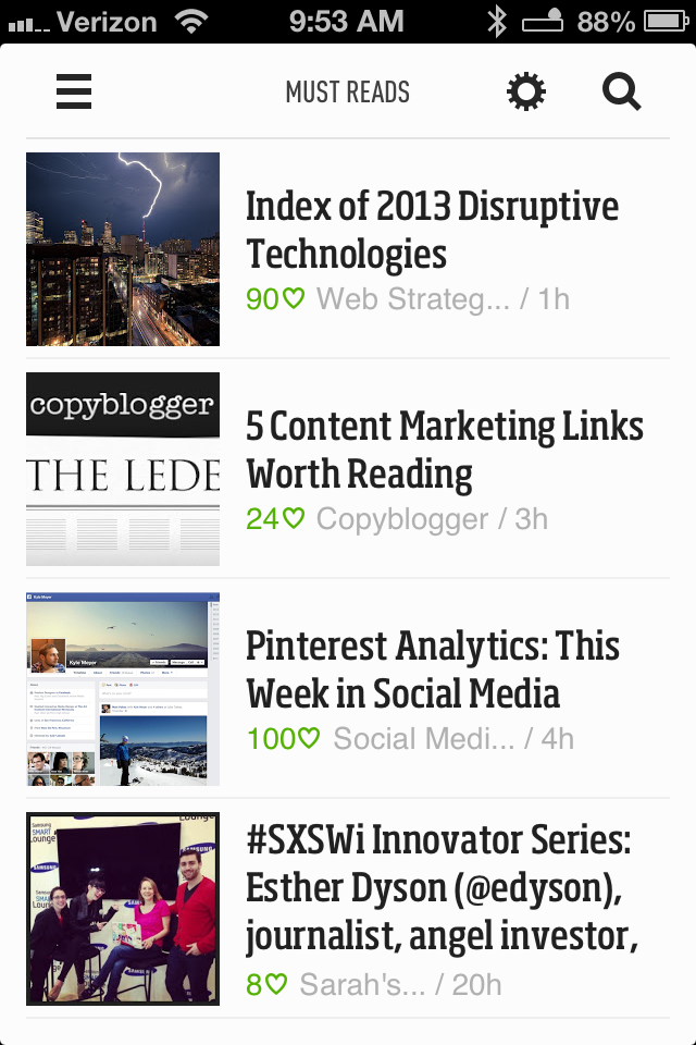 Feedly iPhone