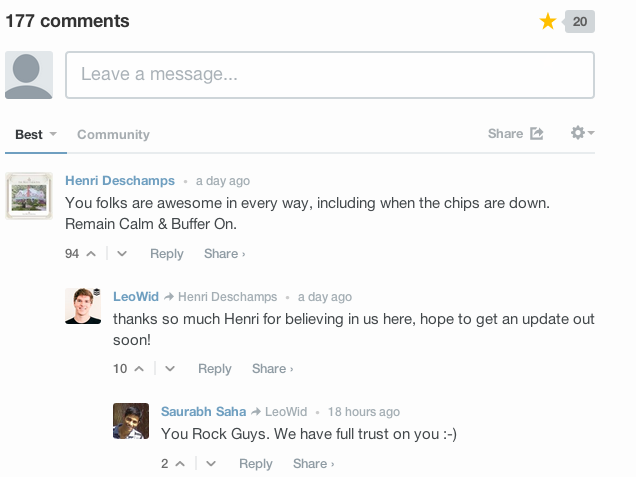 Buffer Blog Comments