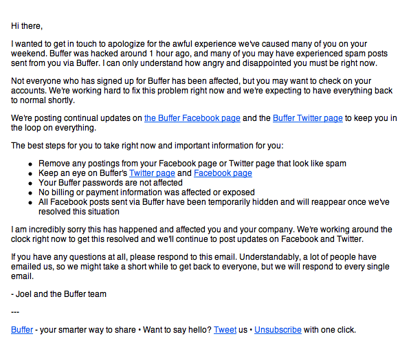 Buffer Email