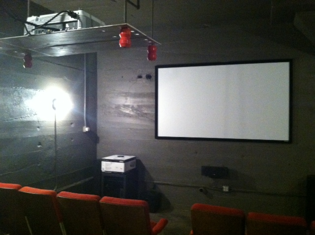 The third, and final, conference room is a full-functioning movie-theater-style space. Perfect for pitches and client presentations.