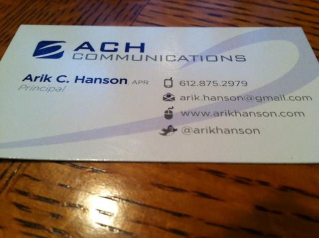 ACH Biz Card