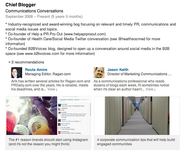 LI blog links