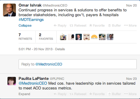 Medtronic CEO Twitter 2