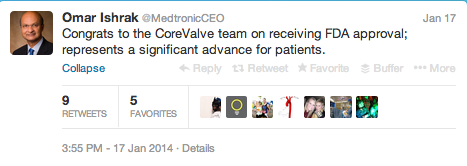 Medtronic CEO Twitter 4