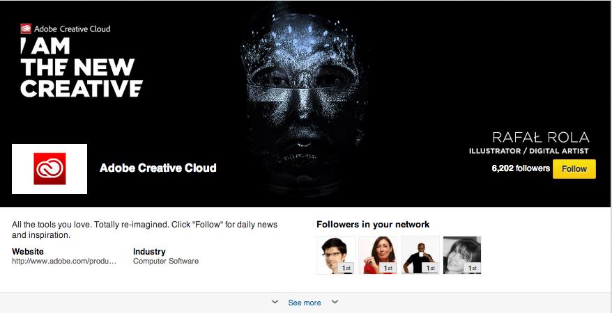Showcase Page Adobe