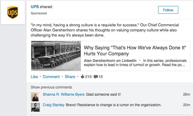 LinkedIn sponsored 2