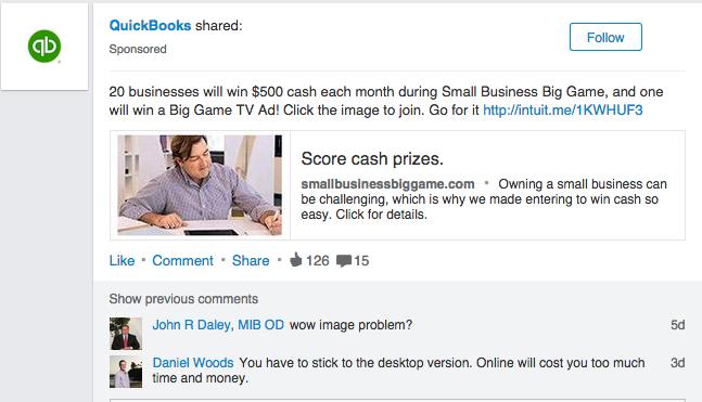 LinkedIn sponsored 5