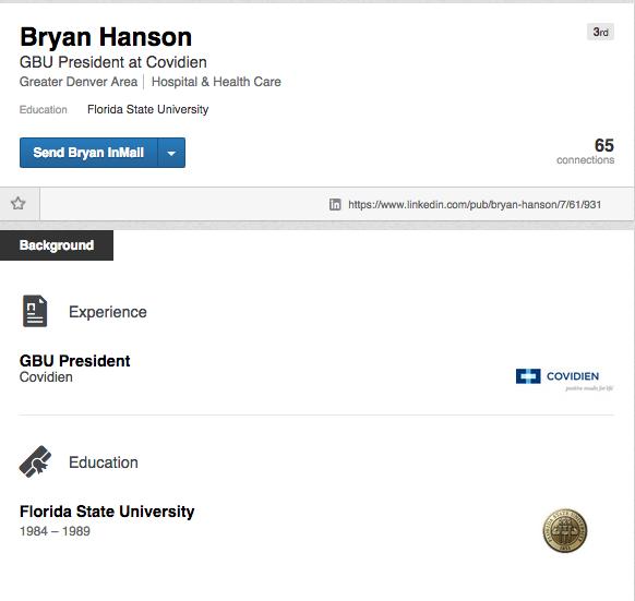 Bryan Hanson LinkedIn