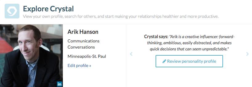 Crystal Knows Arik